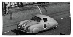 1951 Porsche At Le Mans - Doc Braham - All Rights Reserved Beach Sheet