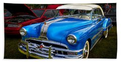 1952 Blue Pontiac Catalina Chiefton Classic Car Beach Towel