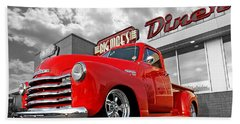 1952 Chevrolet Truck At The Diner Beach Towel