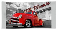 1952 Chevrolet Truck At The Diner Beach Sheet