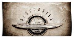 1952 Oldsmobile 98 Holiday Hardtop Emblem -0676s Beach Towel
