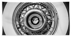 1952 Oldsmobile 98 Holiday Hardtop Wheel Emblem -1485bw Beach Towel