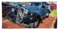 Beach Towel featuring the photograph 1953 Citroen Traction Avant by Rich Franco
