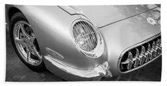 1954 Corvette Nomad Bw Beach Towel