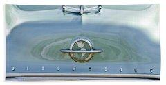 1954 Oldsmobile Super 88 Hood Ornament 3 Beach Towel