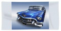 Beach Sheet featuring the photograph 1955 Cadillac Blue by Gill Billington