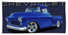 1955 Chevrolet Stepside Beach Towel
