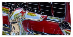 1955 Chevy Coupe Grill Beach Towel
