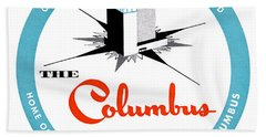 1955 Columbus Hotel Of Miami Florida  Beach Towel by Historic Image