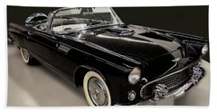 1955 Ford Thunderbird Convertible Beach Towel