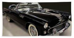 1955 Ford Thunderbird Convertible Beach Towel