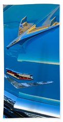1956 Chevrolet Hood Ornament 4 Beach Towel
