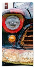 1956 Chevy 3200 Pickup Grill Detail Beach Towel