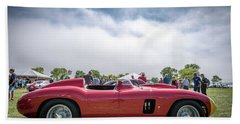 Beach Sheet featuring the photograph 1956 Ferrari 290mm by Randy Scherkenbach