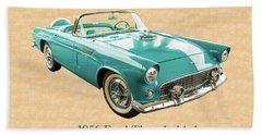 1956 Ford Thunderbird 5510.03 Beach Towel