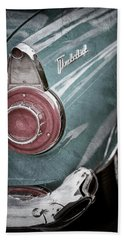 Beach Towel featuring the photograph 1956 Ford Thunderbird Taillight Emblem -0382ac by Jill Reger