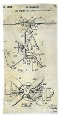 1956 Helicopter Patent Beach Towel