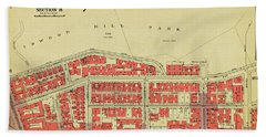 Beach Towel featuring the photograph 1956 Inwood Map  by Cole Thompson