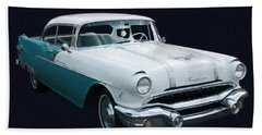 1956 Pontiac Star Chief Digital Oil Beach Towel