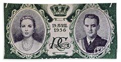 1956 Princess Grace Of Monaco Stamp II Beach Sheet by Bill Owen