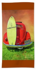 1957 Beetle Oval Beach Towel by Marion Johnson