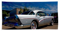 1957 Buick Century Beach Sheet by Linda Bianic