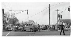 1957 Car Accident Beach Towel