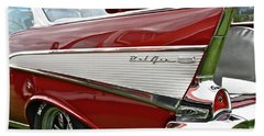 1957 Chevy Bel Air Beach Sheet by Linda Bianic