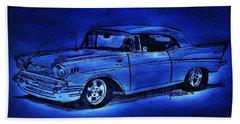 1957 Chevy Bel Air - Moonlight Cruisin  Beach Towel