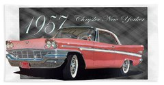 1957 Chrysler New Yorker Beach Towel
