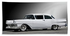 1957 Ford Busines Coupe II Beach Towel
