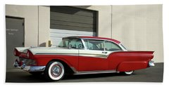 Beach Sheet featuring the photograph 1957 Ford Fairlane Custom by Tim McCullough