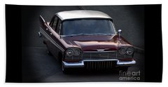 Beach Towel featuring the photograph 1957 Plymouth Belvedere by Baggieoldboy