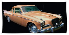 1957 Studebaker Golden Hawk Digital Oil Beach Towel