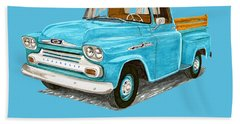1958 Apache Pick Up Truck Beach Sheet