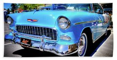 1955 Chevy Baby Blue Beach Towel
