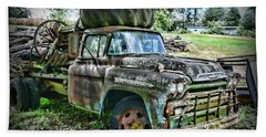 Beach Towel featuring the photograph 1959 Chevrolet Viking 60 by Paul Ward
