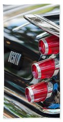 Beach Towel featuring the photograph 1959 Desoto Adventurer Hardtop Coupe 2-door Taillight Emblem by Jill Reger