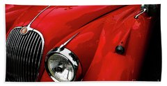 Red Jaguar Beach Towel