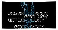 Beach Sheet featuring the mixed media 1960s M. I. T. Graduate Study Programs by Daniel Hagerman