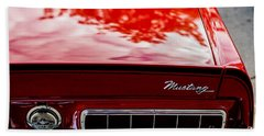 Beach Towel featuring the photograph 1967 Mustang by M G Whittingham