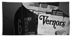 1960's Vernors Box. No Deposit, No Rerurn  Beach Towel by Sandra Church