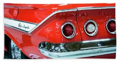 1961 Classic Red Chevrolet Impala Beach Towel