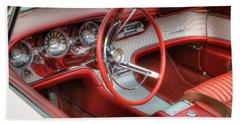 1962 Thunderbird Dash Beach Towel by Jerry Fornarotto