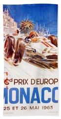 1963 F1 Monaco Grand Prix  Beach Towel