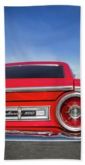 1964 Ford Galaxie 500 Taillight And Emblem Beach Sheet