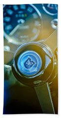 1965 Aston Martin Db5 Coupe Rhd Steering Wheel Beach Towel