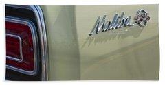1965 Chevrolet Chevelle Malibu Ss Emblem And Taillight Beach Towel