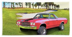 1970 Chevy El Camino 4x4 Not 2nd Generation 1964-1967 Beach Towel