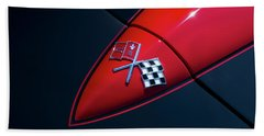 Beach Towel featuring the photograph 1965 Corvette Hood by Joel Witmeyer